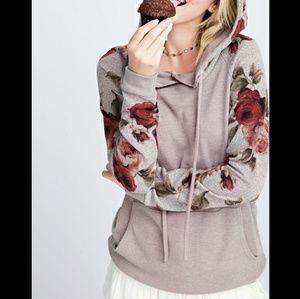 Boutique Floral Hoodie